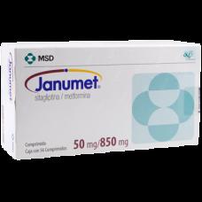 JANUMET 50 MG / 850 MG C/56 COMP