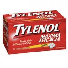 TYLENOL CAPLETS 500 MG C/20 TABS