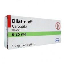 DILATREND 6.25 MG C/14 TABS