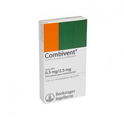 COMBIVENT 0.5/2.5 ML C/10 AMP