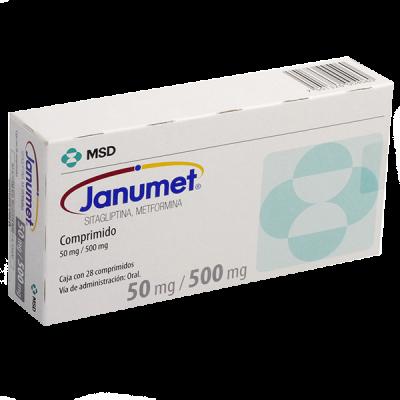 JANUMET 50 MG/500 MG C/28 COMP
