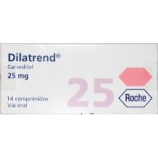 DILATREND 25 MG C/14 TABS